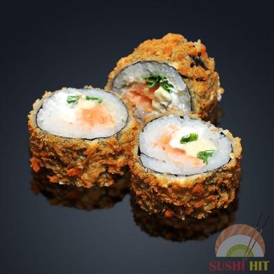 Темпура с лососем и сыром дорблю